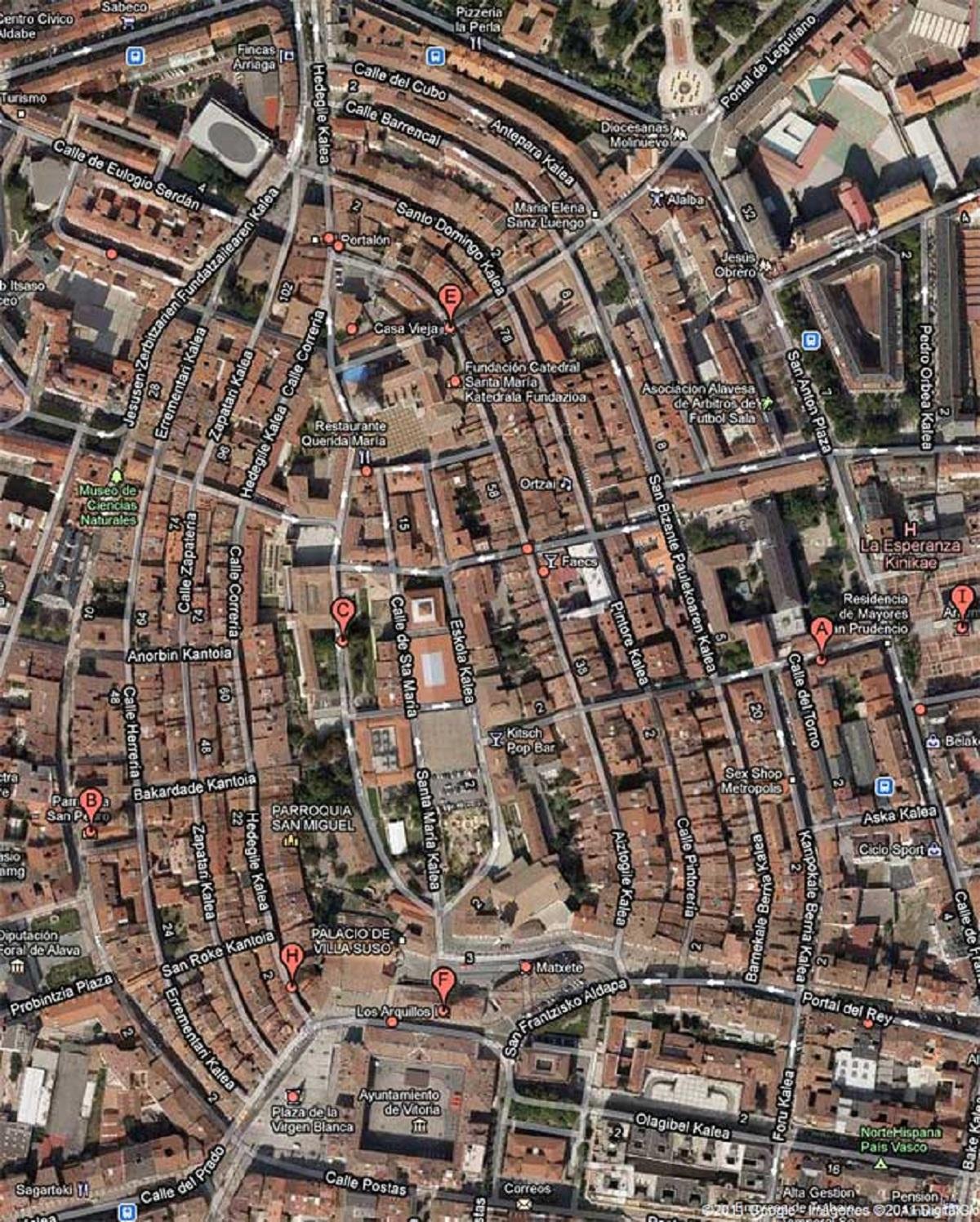 La almendra medieval de Vitoria-Gasteiz.