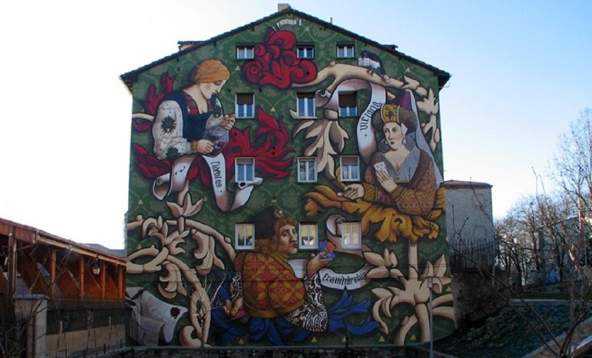 el triunfo de Vitoria mural en Gasteiz