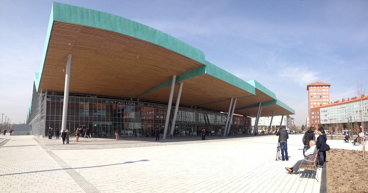Estación de autobuses en Vitoria-Gasteiz.