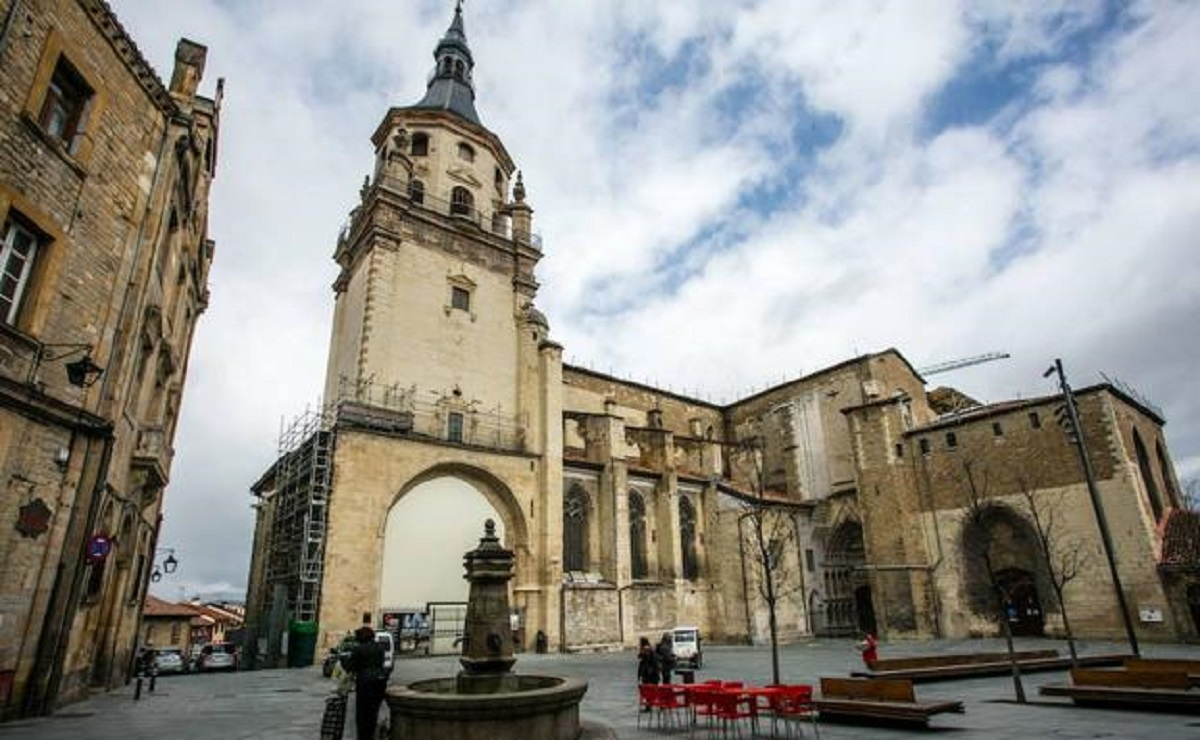 La catedral de Santa María en Vitoria-Gasteiz.