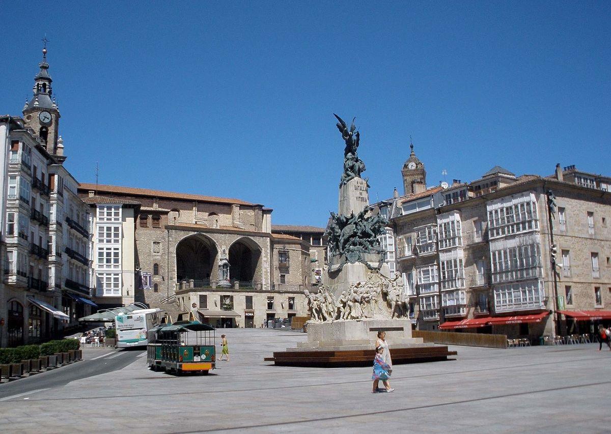 La plaza de la Virgen Blanca en Vitoria-Gasteiz